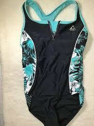 Speedo Swimsuit Girls Children Size 5 To 14 Green Blue Heart