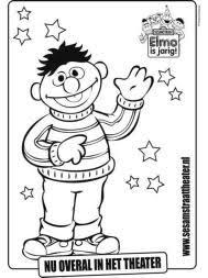 Pin Sesamstraat Kleurplaten Ernie En Bert On Pinterest