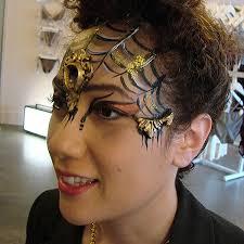 pretty y feminine prosthetic mask face paint