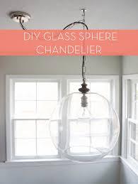 glass bowl sphere chandelier light fixtures