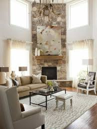 living room decor with corner fireplace. Home Design And Decor , Corner Fireplace Ideas : Stoned In Living Room With