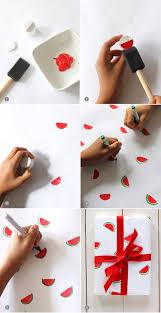Geschenkpapier Selbst Gestalten Wassermelone Stemper