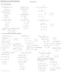 worksheets for all and share free on solving radical exponent equations notes rational