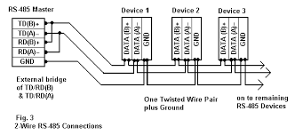 rs 485 connections faq 2 wire rs485 rs232 b b electronics figure 3 2 wire rs 485 connections