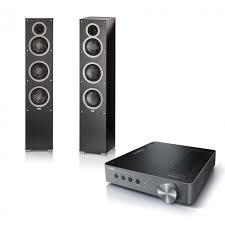 yamaha wxa 50. yamaha wxa50 musiccast amplifier and elac debut f5 black tower speakers kit wxa 50
