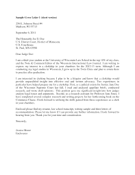 Judicial Clerkship Cover Letter Sample Guamreview Best Solutions Of