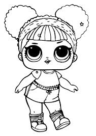 Coloring Pages Printable Lol Doll Coloring Pages Hoops Mvp