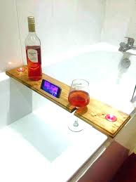 bathtub book holder stunning stand images bathroom with ideas bath caddy wine candle