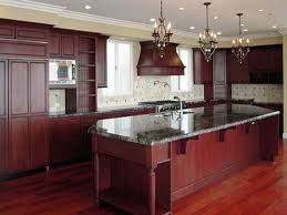 Small Picture Dark Cherry Kitchen Cabinets Wall Color Redtinku
