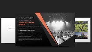 Logo Design Concept Presentation Festival Concept Presentation Graphic Design And