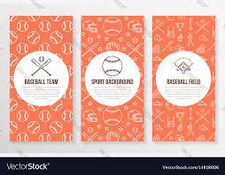 Baseball Brochure Template Baseball Softball Sport Game Brochure Template