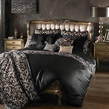 lazzaro black rose gold single bedding