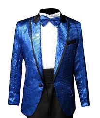 Amazon Com Flch Yige Mens One Button Sequin Glitter Costume