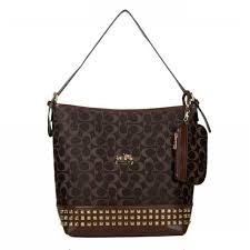 ... coach legacy duffle in stud signature medium coffee shoulder bags bdd