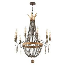 wood iron chandelier troy french bronze with aged wood light medium chandelier french wood iron chandelier