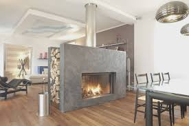 23 doublesided fireplace designs in the living room home design lover