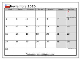 Calendario Noviembre 2020 Para Imprimir Calendario Noviembre 2020 Chile Michel Zbinden Es