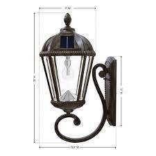 gs 98b w wb royal solar wall mount lamp