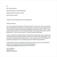 Formal Introduction Email Sample Company Letter Icojudge Co