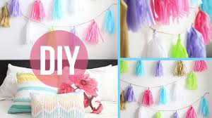 diy room decor anthropologie inspired garland youtube