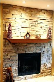 faux stone fireplace panels stacked stone veneer living room traditional with faux exterior how to install