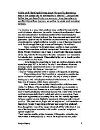 miller said the crucible was about the conflict between a man s page 1 zoom in