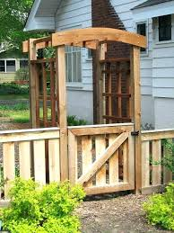 garden gate plans. Making A Garden Gate Bentwood Trellises Arbors Gates Fences Guides Cedar Side . Plans