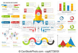 Infographics Report Financial Charts Diagrams Bar Chart Graph Business User Interface Design Vector Presentation Infographic Template