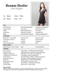 Actors Resume Template Enchanting Actors Resume Template Beautiful 48 Best for the Kid Images On
