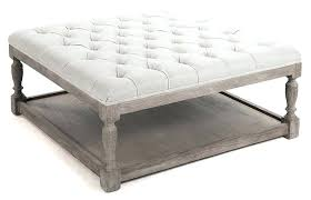 padded coffee table white tufted ottoman coffee table fabric coffee table ottoman