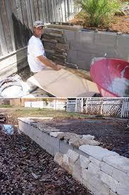 backyard retaining walls