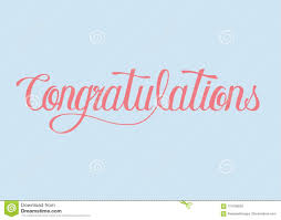 Word For Congratulations Congratulations Word Typography Design Illustration Stock