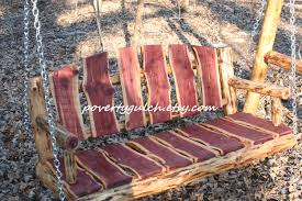 chair bench swing patio rusic  live edge cedar porch swing log porch swing poverty gulch rusti
