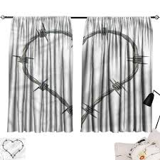 Barbed Wire Embroidery Design Amazon Com Smallbeefly Yellow Curtains Barbed Wire Security