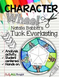 the best tuck everlasting activities ideas tuck tuck everlasting character wheel interactive notebook activity