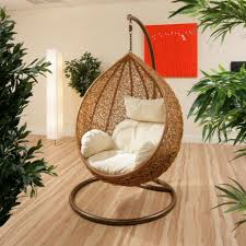 Swinging Chair For Bedroom Wicker Egg Hanging Chair For Modern Bedroom With Stylish Maple