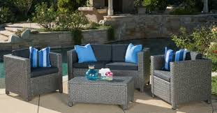 christopher knight home puerta grey outdoor wicker sofa set. Full Size Of Sofas:christopher Knight Home Puerta Grey Outdoor Wicker Sofa Set Christopher U