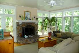 Cottage Fireplaces | Sunroom fireplaceClick To Enlarge