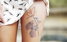 обои птицы женщины ноги татуировка юбка человек кожа цветок