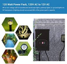 Low Voltage Outdoor Lighting Design Software Dewenwils 120w Outdoor Low Voltage Transformer With Timer And Photocell Sensor 120v Ac To 12v Ac Weatherproof For Halogen Led Landscape Lighting