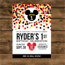Free Mickey Mouse Template Download 20 Mickey Mouse Birthday Invitation Templates Free Sample