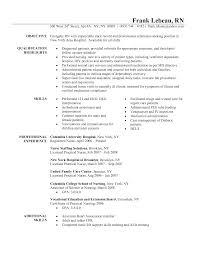 Transform Nursing Resume Skills Sample On Resume for Triage Nurse O Resume  for