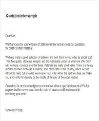 price quotation format doc sample quotation letter in doc 9 examples in word