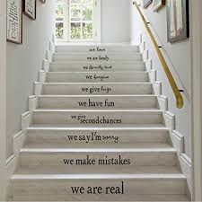 Stairs Quotes Magnificent Amazon Inspiration Wall Decals Quotes We Are Family Removable