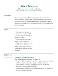 Resume Help Skills Emergency Services Chronological Resumes Skills ...