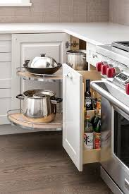 corner cabinet with pull out rotating pot and pan shelves rotating corner shelves cabinet corner cabinet