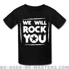 You Shirts We Will Rock You Punk Kids Shirt No Gods No Masters