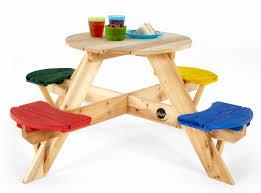 plum children s circular picnic table