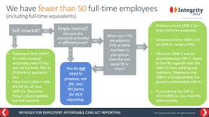 Irs Rules For Aca Reporting By Employers