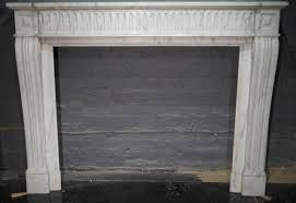 a pair of louis xvi style carrara marble fireplace surround 2